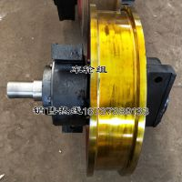 双缘套装车轮组型号 800锻造65锰淬火调质轮 纽科伦台车车轮组