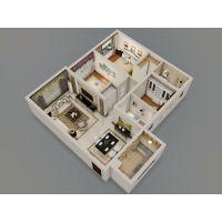 乌鲁木齐装饰装修公司海智装饰两室两厅95平米装修效果图