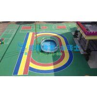 幼儿园塑胶地面工程操场彩色EPDM跑道施工环保橡胶面层材料供应
