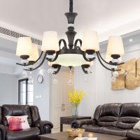 新款美式吊灯大气简约客厅卧室餐厅LED灯具