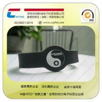 智能硅胶腕带 M1芯片腕带 rfid智能识别景区门票定制厂家