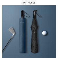 跨境RAY HORSE 男士商务超大二折高尔夫雨伞简约新品抗强风自动伞