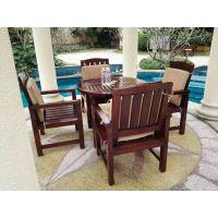 广州品旺家具全国供应优质休闲桌椅 柚木户外桌椅 酒店户外实木餐桌椅
