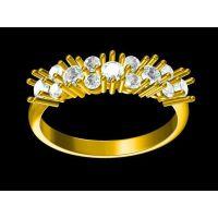 订制锆石男戒指 戒指男士 3克的金戒指—石英饰品生产厂家