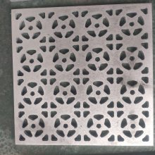 万达广场外墙门头装修镂空雕花铝单板