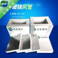 山东众诺通风系统 厂家销售玻镁复合风管 玻镁排烟板 纤维增强镁质风管