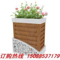 花箱厂家定做户外PVC发泡仿木室外景观市政工程道路花箱