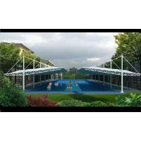 新型膜结构停车棚校园操场景观张拉膜室外游泳池张拉膜