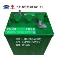 火炬蓄电池3-DG-210 游览观光车电池6V210Ah 淄博电瓶