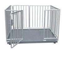 1.5米x2米带围栏电子地磅,3吨小地磅,称猪围栏秤