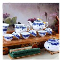 供应陶瓷茶具套装山水花卉茶具茶具三件套元旦春节礼品