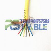 上海柔胜-现货PUR聚氨酯柔性屏蔽电缆6芯*0.2/物探电缆/防水抗拉耐磨耐腐浊