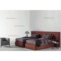 欧洲MERIDIANI进口布艺现代卧室高端双人床意大利进口家具