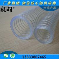 塑料PVC钢丝增强管 航羽透明高压钢丝油管 食品级软管 石油石化胶管