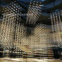 创意售楼部沙盘区工程灯定制 新款大型商业空间中庭异形框架灯具