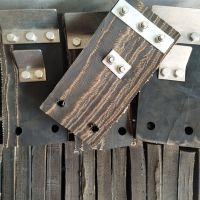 橡胶脱毛块厂家 山东省济宁市橡胶刮毛块 猪刨毛机配件胶块 带刮板轮胎橡胶块