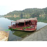 电动高低蓬木船多少钱浙江广西景区服务类船