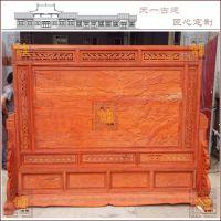 厂家订做适用于酒店、学校、餐厅等场地的中式古典风格实木插屏