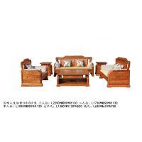山东泰安红木家具冈比亚刺猬紫檀非洲花梨百味人生如意1+2+3沙发