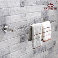 跨境双杆毛巾架 不锈钢镜面抛光挂杆浴室浴巾架卫浴五金GX-JG3902