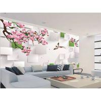 卧室装修用什么花型贴墙好 用抽象树叶花型贴高档大气温馨