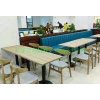 自助西餐厅实木桌椅组合咖啡店餐饮店桌子椅子定制甜品中餐桌椅铁艺