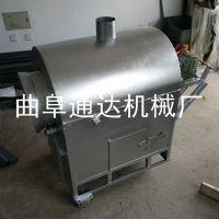 自动翻炒坚果炒货机 花生菜籽榨油滚筒炒料机 电加热瓜子炒锅 通达订做