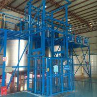 厂家供应盛鑫万通牌榆林市导轨式升降机链条式货梯电动升降台简易液压电梯