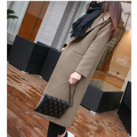 工厂亏本清仓双面羊绒呢子大衣 2018新款韩版长款风衣 毛呢外套清货20元