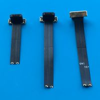 10 MICRO全塑公头带FPC超短软排线 无线充电头 反向 USB公座 2PIN 背夹充电专用公座