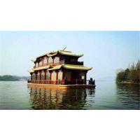 供应50人坐大型画舫木船 景区旅游观光船 木质船 电动餐饮船
