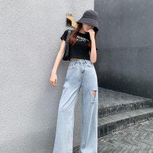 跑江湖特卖场牛仔裤批发 厂家直销小整单女装牛仔裤摆地摊拿货