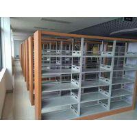 图书馆书架厂家 钢制木护板单面双面书架价格