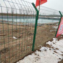 鱼塘防护围栏网 双边丝护栏网 安徽绿色铁丝网现货