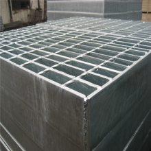 平台钢格板规格 镀锌插接钢格板 踏步板图片