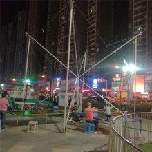 儿童充气跳床大型四人蹦极床游乐设备商场钢架飞天蹦蹦床游乐场