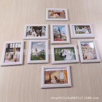 九宫格照片墙简约现代欧式餐白色小相框墙挂墙创意组合卧室相片墙