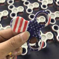 ABS塑料外壳UV打印 指尖陀螺图案彩印加工 塑料指尖陀螺数码喷绘