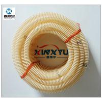供应PU塑筋增强 食品级塑料 卫生级螺旋增强软管