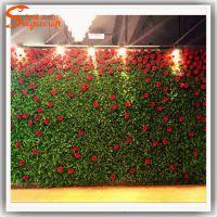 广州植物墙 仿真植物墙 厂家供应人造假花墙 垂直绿化 可定做尺寸