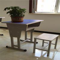 昌吉 可升降板式课桌椅 塑钢儿童课桌椅 厂家直销