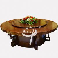 2.8米电动餐桌 包厢中国馆豪华加固电动桌 包间高档酒店宴会餐桌