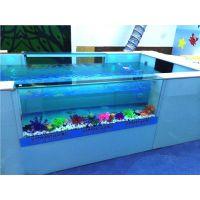 新款节能亚力克双面玻璃泳池的结构部件