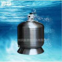 广州索沐图耐高温高压过滤设备 润淼顶出不锈钢砂缸