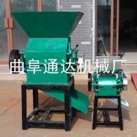 粮油店专用17-28型电动花生米破碎机 粮食加工破瓣机 对辊式破碎机 通达直销