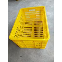 供应广西蔚华胶筐 50斤装塑料周转筐厂家