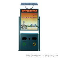 广告垃圾箱2017***火爆款式 HY-LJX-161 恒远型材垃圾箱