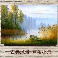 风景油画加工定制 酒店套房/家居/客厅壁画无框画批发 欧式装饰画 风景画
