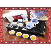 定制景德镇茶具手绘青花瓷器手工白瓷茶具整套陶瓷功夫茶杯套装