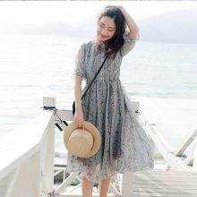 广东的服装尾货批发市场沙河女士雪纺连衣裙便宜清仓处理